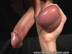Dominant Amo Morbia Tortures and Wanks a Cock Until Getting Facialized