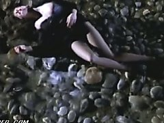 Breathtaking French Babe Laetitia Casta Gets Beaten Up In a Sexy Dress