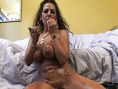 Horny Brunette Cougar Anjelica Lauren Gets Fucked and Facialized
