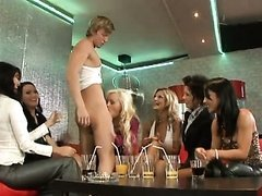 Hot MILFs Suck a Big Cock and Go Lesbian On Each Other In a CFNM Party