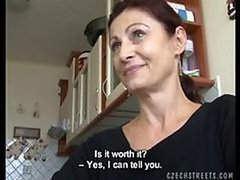 Czech MILF Fucking a Total Stranger For Money
