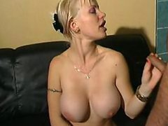 Insatiable Blonde French MILF Gets Gangbanged and Covered In Cum