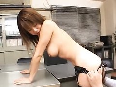 Sexy Asian Secretaries Fucked In An Office Threesome