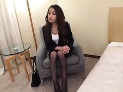 Fucking a Sexy Japanese In The Office