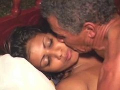 Old Big Cock Fucks A Gorgeous Indian Babe