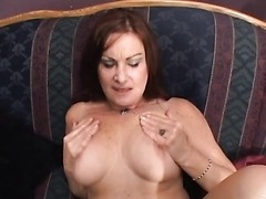 Mature Dominatrix Abusing One Submissive Male Victim