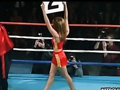 Hot Blonde Ring Girl Nikki Cox