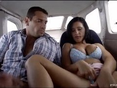 Horny Nikky Rider Gets Fucked In The Airplane and At The Beach