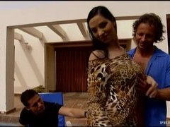Breathtaking Euro Brunette Lara Stevens Fucked By Two Cocks