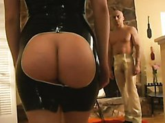 Big Assed Anal Blonde Gets Fucked Hard In Sexy Latex Lingerie