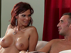 Hot sex with the busty mommy Syren De Mer