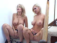 Awesome backstage clips with lesbians getting ready for love making
