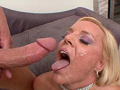 She screams with pleasure while getting pounded hard from behind