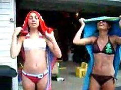 Hot Turkish Teens In Bikini Putting On Their Turbants