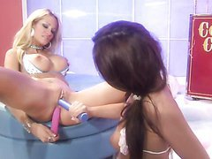 Anal Toying With Cotton Candy Lovers Jessica Drake and Kirsten Price