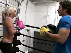 Smoking Blonde Pornstar Brittney Skye Is Fucked On The Ring