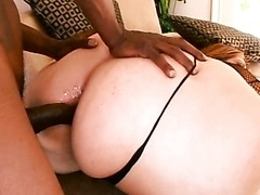 Redhead BBW Interracial Sex Scene with Anal Creampie