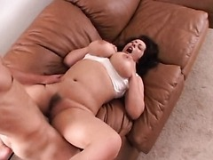 MILF-BBW with Large Tits gets Fucked and Swallows Semen