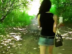 Outdoors POV Blowjob In Public By a Sexy Amateur Teen