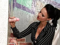 Gorgeous Brunette Has Dirty Gloryhole Fun