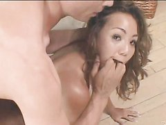 Drilling and Leaving a Creampie on Asian Keeani Lei's Asshole