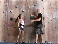 Rock Climbing Babe Rachel Roxxx Swallows A Big Dick While Climbing