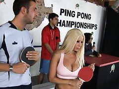 Kerian Lee Gives A Bit Of Ping Pong Sex To The Blonde Babe Gina Lynn
