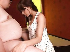 Fat Dude Gets An Amazing Blowjob From a Stunning Japanese Babe