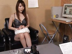 Hot Japanese Babe Sucks a Dildo Before Swallowing Cum After POV Blowjob
