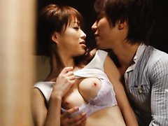 Hot and Horny Asian MILF Gives A Great Blowjob with Her Clothes On