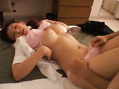 Hot Tokyo Girl with Big Natural Tits Sucking Cock and Getting Fucked