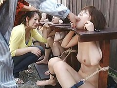 Japanese AV Model naked in public and forced to suck his fingers