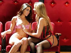 Insatiable Gracie Glam And Julia Ann Please One Another With Lesbian Sex