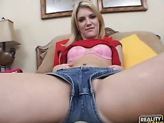 Riley Sure Knows How To Work Her Tight Pussy On A Hard Cock