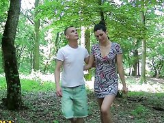Lovely Brunette Loves Fucking Outdoors