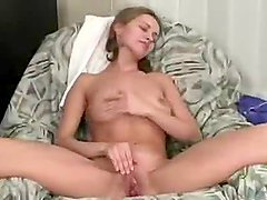 Blonde Amateur Girl Enjoys Masturbating