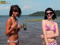 Hot Babes In Bikini Have A Great Time With Their Lovers In A Camping Site