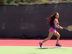 Bailey, Danica and Melissa Get a Hot Party after a Tennis Match