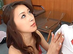 Yuria Sendo enjoys giving an After Office Blowjob