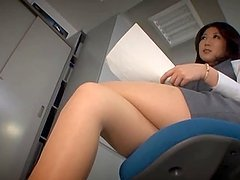 Asian Office Girl in Pantyhose Fucked by the Janitor