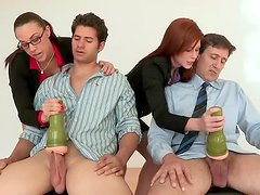 Dick Quality Test With Two Hot Babes