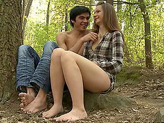 Hot Outdoor Sex With A Sexy Blonde Teen And Her Boyfriend