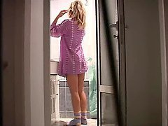 Voyeur Clip Of The Blonde Teen Liza In The Bathroom