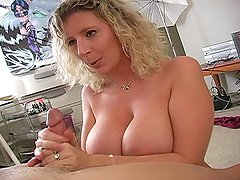 Busty Babe Gets Cum all Over Her Tits