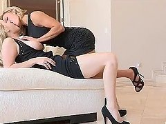 Girl on Girl Action With Horny Blondes