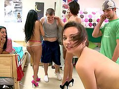Hot Dorm Orgy With Hot Bang Bros Pornstars
