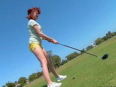 Golfing Tiger-Style Redhead Milf Hardcore Sex