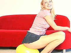Beautiful Blonde Allison Pierce Balloon Fetish