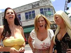 Busty Babes Have A Foursome With A Store Owner