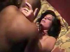 Brunette hottie in some insane interracial amateur sex